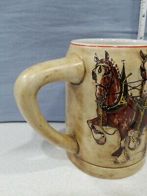 $ CDN90.09 • Buy 1980 Budweiser Champion Clydesdales Holiday Stein Ceramarte 'Red Cases'