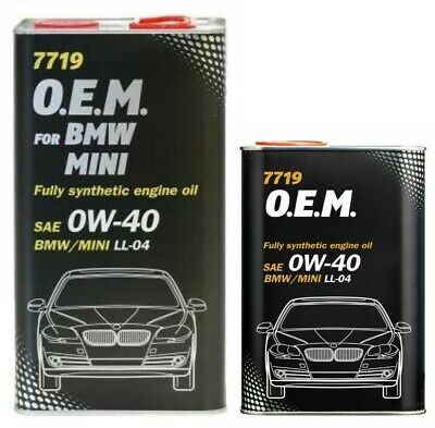 Mannol OEM For BMW Mini 0W40 C3 Fully Synthetic Engine Oil LL04 Diesel Engines • 26.80£