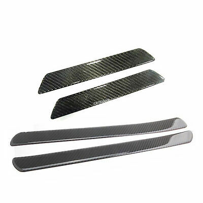 4X Carbon Fiber Car Door Sill Scuff Plate Cover Panel Step Protector Accessories • 20.89£