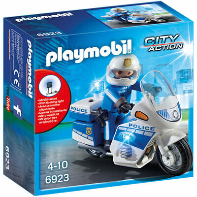 PLAYMOBIL Police Bike With LED Light - City 6923 • 5.50£