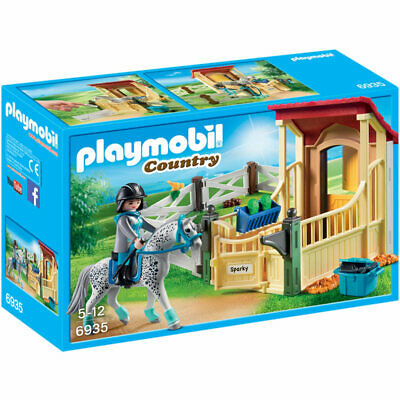 PLAYMOBIL Horse Stable With Appaloosa - Country 6935 • 2.20£