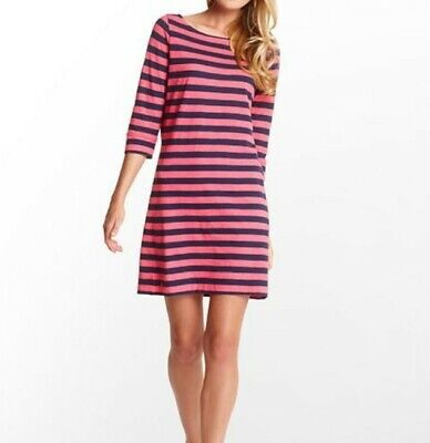 $35 • Buy Large Lilly Pulitzer Striped Cassie Dress - Pink / Navy Blue