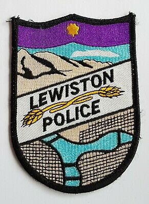 Obsolete Original Police Patch Badge USA Lewiston Police Maine America  • 5.99£