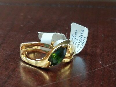 $ CDN33.95 • Buy Lia Sophia Sweet Pea Ring Marquise Cut Green Cubic Zirconia Stone CZ Sz 8 Gold
