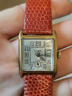 Vintage 1920s Bulova Mens Watch 10A Movement With Original Dust Cover - Working • 90£