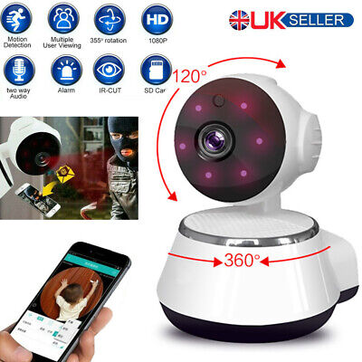 1080P WiFi IP Camera Home Security Baby Monitor Clever Dog CCTV CAM Night Vision • 17.99£