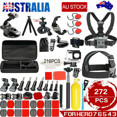 AU34.89 • Buy  272pcs Accessories Pack Case Chest Head Floating Monopod GoPro Hero 7 6 5 4 3+2