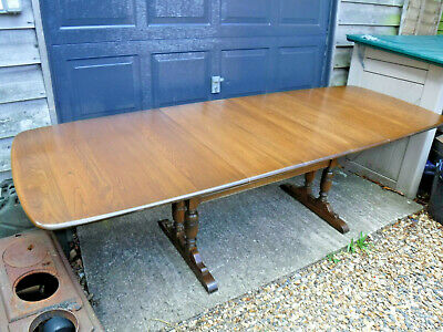 Ercol Golden Dawn Dining Table - 8'  Long Extended - Assist Courier • 400£