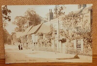 Old Real Photo Street Scene Postcard - Sonning Berkshire England UK • 3.50£