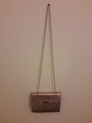 New Look Cross Body Bag Rose Gold Chain Party Occasion  • 3.20£