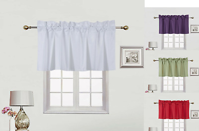 $9.99 • Buy 1 Straight Valance Opaque Solid Lined Small Window Blackout Curtain 38 W X 18  L