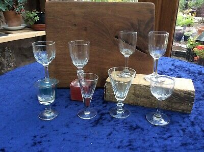 8 Antique Victorian Drinking Glasses • 15£