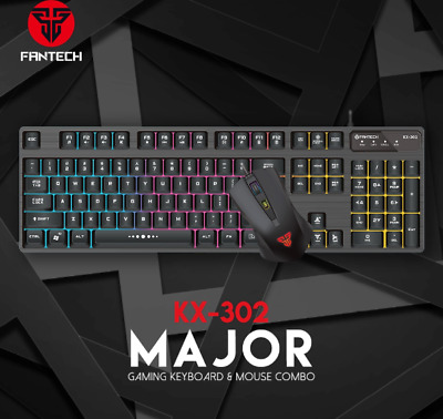 AU45 • Buy Professional Mechanical Gaming Keyboard And Mouse Combo Fantech KX-302 Major