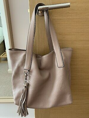 Coccinelle Calf Leather Tote Bag Soft Pink • 99£