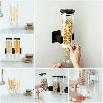 £8.99 • Buy Cereal Dispenser Dry Food ContainerCereal Machine Storage Black / White UK