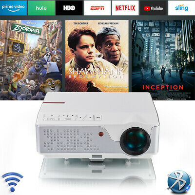 AU629 • Buy FULL HD Android Projector WiFi Bluetooth 4K Home Theater Movie Video HDMI USB 3D