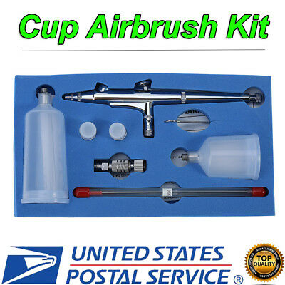 $22.22 • Buy Dual Action Gravity Feed Airbrush Paint Spray Gun Set ( 0.2/0.3/ 0.5mm Nozzle )