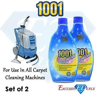 2 X 1001 Carpet Machine Shampoo 500ml Targets Tough Stains Professional Clean • 6.95£