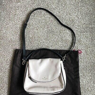 $ CDN220 • Buy NWOT Kate Spade Cobble Hill Devin Cream Black Handbag Crossbody