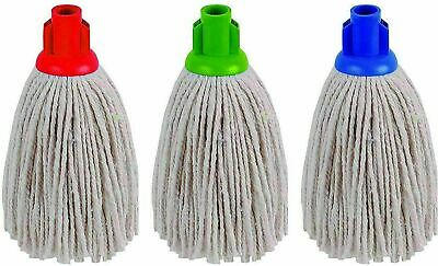 £4.29 • Buy High Quality Floor Cotton Mop Head Screw Push Socket Color Coded Long Lasting