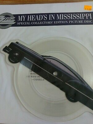 "ZZ Top - My Heads In Mississippi 7"" Shaped Picture Disc Vinyl • 3£"
