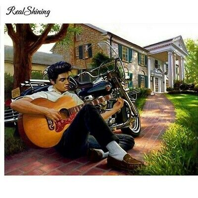 AU16.38 • Buy Elvis Presley 5D Full Drill Diamond Painting Kits Art Embroidery Decors DIY Gift