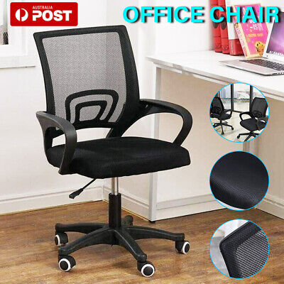 AU67 • Buy Ergonomic Office Chair Gaming Computer Mesh Chairs Executive Mid Back Black AU