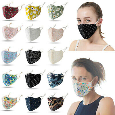 AU10.97 • Buy Fashion Floral Face Mask, Reusable,Washable, Double Layers, Many Design-Unisex