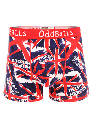 Help For Heroes Boxer Shorts Trunks In Union Jack Print • 10£