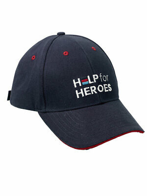 Help For Heroes Navy Hat Union Jack Baseball Cap • 12£