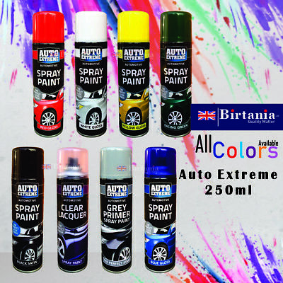 Auto Extreme Aerosol Spray Paint Satin Gloss Matt Primer Grafitti Tint 200/250ml • 5.49£