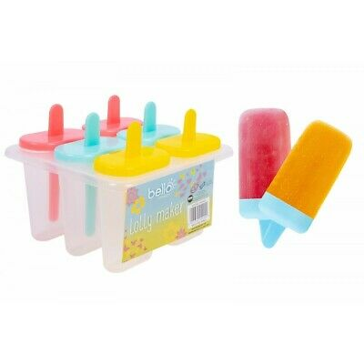 6PCS Pack Ice Lolly Cream Maker Mold DIY Popsicle Mould Frozen Yogurt Icebox UK • 4.49£