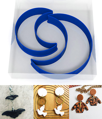 SMALL 3/5CM Moon Polymer Clay Cutter Jewellery Making Kit Craft Set Night Sky • 3.99£