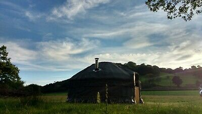 New 16ft Roundwood Yurt Made With Welsh Coppice And Quality Canvas Made To Order • 5,500£