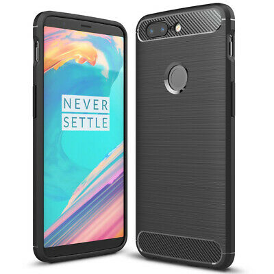 AU10.21 • Buy Cover For OnePlus 5t Soft Carbon Brushed Phone Case Bumper Shell Rubber Black