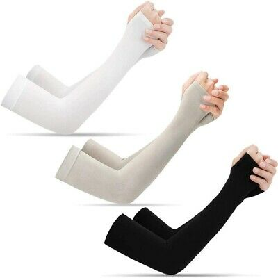 Unisex Arm Sleeves Cover Long Cycling Sports Outdoor UV Sun Protection Cooling • 1.59£