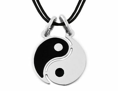 AU59.06 • Buy Necklace Dolce Half Ying Yang Tao Silver 925 + 2 Pcs X Black+Incision