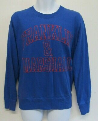 Franklin & Marshall Mens Sweatshirt Jumper Top Size S Blue Crew Neck  • 5.99£