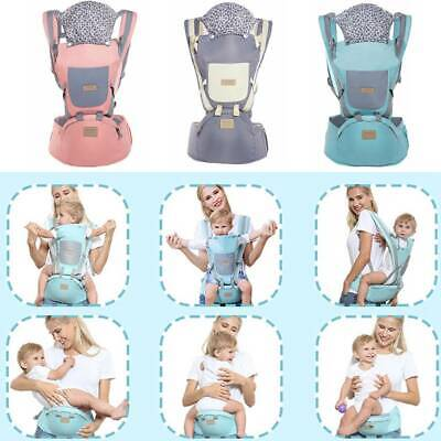 9 In 1 Ergonomic Baby Carrier With Hip Seat Stool Sling Backpack For All Seasons • 18.99£