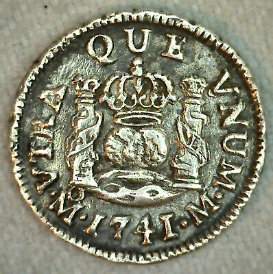 $ CDN383.28 • Buy 1741 MF Spanish Mexico Silver 1/2 Real Colonial Coin Mule? Transition?