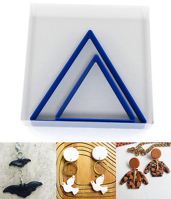 SMALL 3/5CM Triangle Polymer Clay Cutter Jewellery Making Kit Craft Set Shape • 3.99£