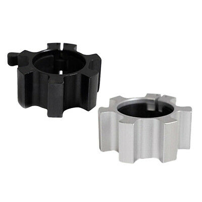 $ CDN32.26 • Buy 2 Pieces Solid Barbell Clamps Dumbbell Locking Spin Clamps Black+Silver