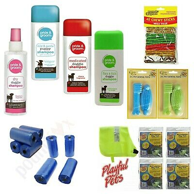 £4.95 • Buy Dogs Shampoo Collars Spot On Dry Shampoo Invisibility Vest Dental Toys Chewy UK