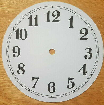£8.45 • Buy NEW - 7 Inch Clock Dial Face - White - 177mm Arabic Numerals - DL192