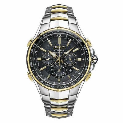 $ CDN503.98 • Buy Seiko Men's Coutura Radio Sync Solar Chronograph Two Tone Steel Watch SSG010