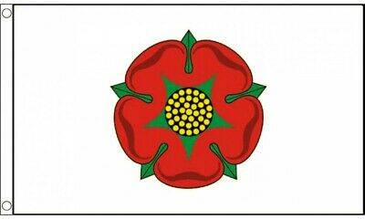 Lancashire Red Rose County Flag - 5ft X 3ft (150cms X 90cms) - Polyester Flag • 3.95£
