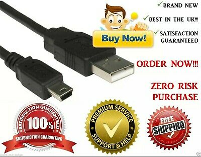 1m MINI USB To USB CHARGER CABLE LEAD FOR TOMTOM SATNAV ONE V3 V4 XL# • 2.59£
