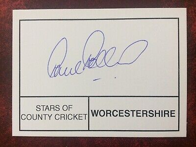 £4 • Buy Cricket - Paul Pollard - Worcestershire - Hand Signed / Autographed Card