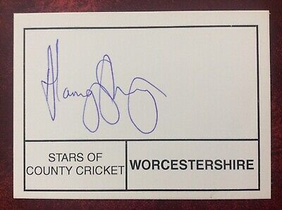 £4 • Buy Cricket - Alamgir Sheriyar  - Worcestershire - Hand Signed / Autographed Card