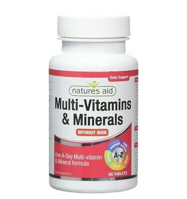 Natures Aid Complete One-A-Day Multi-Vitamins & Minerals - 60 Tablets • 7.50£
